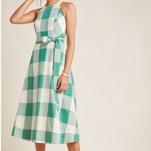 NWT Maeve Greta Gingham Dress Anthropologie 22W